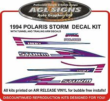 1994 POLARIS Indy STORM  Hood Tunnel & Trailing Arm decals graphics reproduction