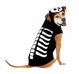 Skeleton Halloween Costume Dog Hoodie Hyde & EEK! Large NEW