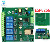 AC/DC ESP8266 ESP-12F Development Board Module WIFI 4 Channels Relay Module