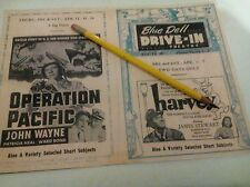 Rare Blue Dell Drive-In Movie Theatre Lincoln Highway Irwin PA. Playbill Repo