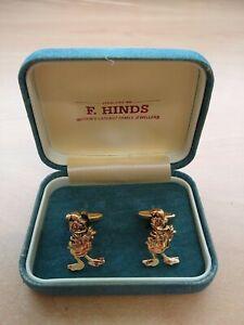 Disney Donald Duck Cufflinks and Box