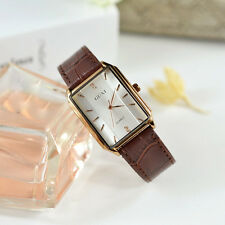 Fashionable Luxury Women Men Couple Lover Leather Band Analog Quartz Wrist Watch