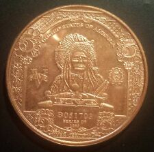 UNITED STATES OF AMERICA - Indian V dollars 1oz .999 Fine Copper To see XF condi