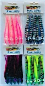 Fisher Tackle Salmon Trolling Fly skirts squid hoochie Lot of 25