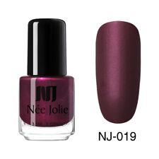 Matting Nail Polish Black Pure Color Pink Nail Art Oily Varnish NEE JOLIE 3.5ml