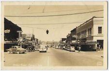 1930 CHEHALIS WA busy Main Street Ellis REAL PHOTO postcard RPPC Lewis County