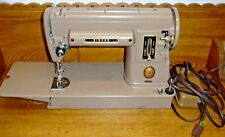 Vintage Tan Singer Sewing Machine 301A In Case