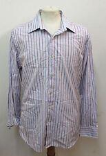 "GAP Blue Men's Casual Long Sleeved Striped Shirt Size Collar 16.5"" 42cm"