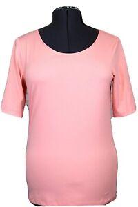 Christopher & Banks Women's M Peach Short Sleeve Top Medium, Silky Soft Stretch