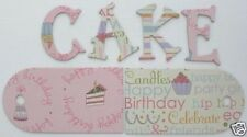 "*BiRTHDAY CAKE * Imaginisce Glittery Chipboard Letter Die Cuts - 1.5"" Tall"