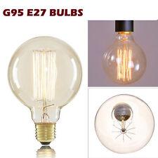 E27 60W Vintage Antiguo Industrial Retro Luz Filamento Lámpara Bombilla de Edison-G95