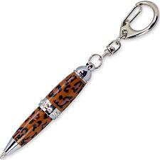 Padrino Pixie Leopard Print Crystal Keychain Carabiner Ballpoint Pen