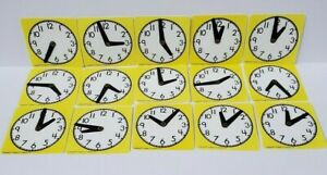 Cuisenaire Mini Clocks Teaching Telling Time Math Manipulatives School Lot 15