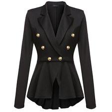 Plus Size Womens Slim Cardigans Collar Blazer Suit Thin Jacket Formal Coat Tops