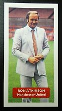MANCHESTER UNITED - RON ATKINSON - Score UK football trade card