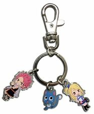 Great Eastern Entertainment Fairy Tail Natsu, Happy, and Lucy Metal Key Chain