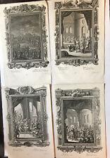 4 Kupferstiche - 2 x Johann Georg Pintz  (1697-1767) - 2 x P.G.Harder
