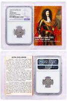 1640-1705 Austria Silver 3 Kreuzer Leopold I Hogmouth NGC AU Story Valt SKU51974