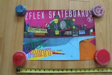 Z-Flex Dennis 'Polar Bear' Agnew Neon Pool Dogtown Skateboarding 12x17in. Poster