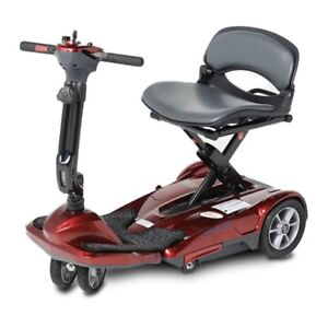 NEW EV Rider S19M TranSport M Easy Move Folding Mobility Scooter RED