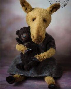 Ooak artist teddy bear moose & bear