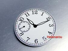 HR B-Uhr Pilot Glossy White Watch Dial for ETA 6497 Seagull ST36 Movement