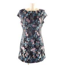 ORSAY Kleid Dress A-Linie Festlich Asia Schwarz Flower Gr. 42 XL