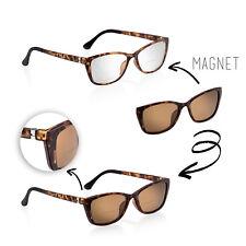 Damen Bifokal Sonnenlesebrille Zweistärkenbrille mit Sonnenclip