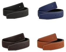 QHA Mens Womens Genuine Leather Replacement Belt No Buckle 38mm 32mm Wide Strap