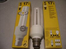 2 - 17w = to 75w x 240v energy saving fluorescent lamp B22 make Neolux