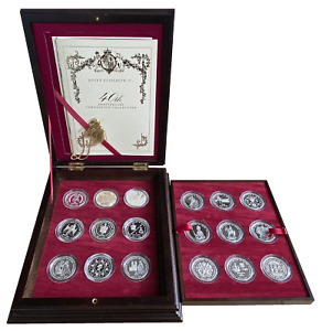 Queen Elizabeth II 40th Anniversary  Coronation Crown Collection - Boxed