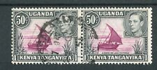 Kenya Uganda Tanganyika KGVI 1938-54 50c purple & black dot/no dot SG144eb used