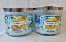2 Sundress Scented Candle Bath & Body Works 14.5 Oz