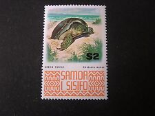 SAMOA, SCOTT # 378A. $2.00 VALUE 1972-75 MARINE LIFE GREEN TURTLE ISSUE MNH