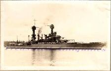1920s US Navy USS Maryland BB-46 Colorado Battleship Starboard Broadside Photo