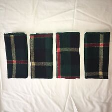 Christmas Plaid Napkins Lot of 4 Green Red Gold Never Used