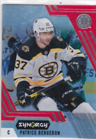 20/21 SYNERGY..PATRICE BERGERON..RED ACETATE..# 42..BRUINS..FREE COMBINED SHIP