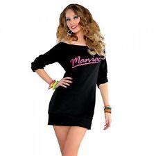 80s Flashdance Maniac Ladies Costume Sweatshirt Dress