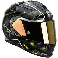 CASCO INTEGRALE MOTO SCORPION EXO 510 AIR XENA VISIERA INTERNA FUME NE GIALLO S