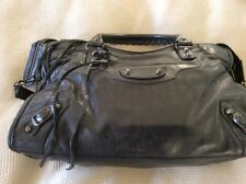 RARE 2007 Nero BALENCIAGA City Bag in pelle capra RH