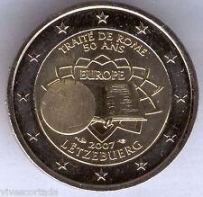 Nouvelle design 2 Euros Luxembourg 2007 @ Traité ROME @