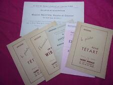 NORD / ENSEMBLE D'INVITATIONS ARTISTES PEINTRES années 1940/45 à lille