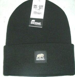 Beanie Hat, Watch Cap, Toboggan Hat, Cuff Cap, Berne Heritage H150, Black