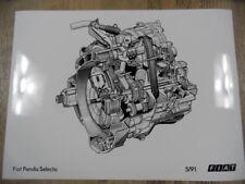 Zeichnung Motor FIAT Panda Selecta 5/91 SR917
