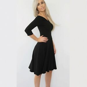 HEPBURN COCKTAIL DRESS - BLACK