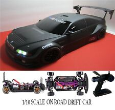 Custom 1/10 Scale Remote Control On-road Drift Car RC BMW M3 FLAT BLK