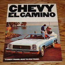 Original 1977 Chevrolet El Camino Foldout Sales Brochure 77 Chevy