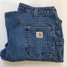 Carhartt WB013-VIO Womens Blue Jeans Dungaree/Carpenter Tag Size 12x30 Waist 33