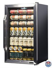 NewAir Beverage Cooler and Refrigerator Mini Fridge with Glass Doors 126 Cans