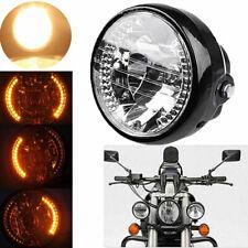 "Universal 6.5"" 35W Motorcycle Bike   Headlight LED Turn Signal Light New"
